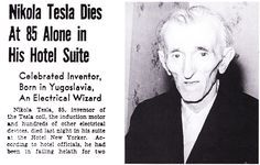 """On the night of January 7, 1943, the eve of the Orthodox Christmas, snow fell on New York City. In a darkened room on the thirty-third floor of the Hotel New Yorker, Tesla lay listening to the clamor of traffic below. His great legacy, the technological world he had helped create, would continue without him. There would be no more riveting announcements, or shrieks of """"Eureka,"""" or terrifying bolts of lightning leaping in his laboratory. The pigeons on the window ledge stirred their feet and…"""