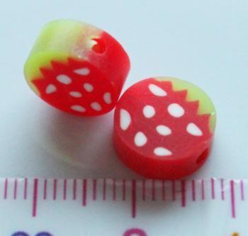Punavihreät hedelmähelmet, 2 kpl, myyjä Maili http://www.taitomaa.fi/shop/maili