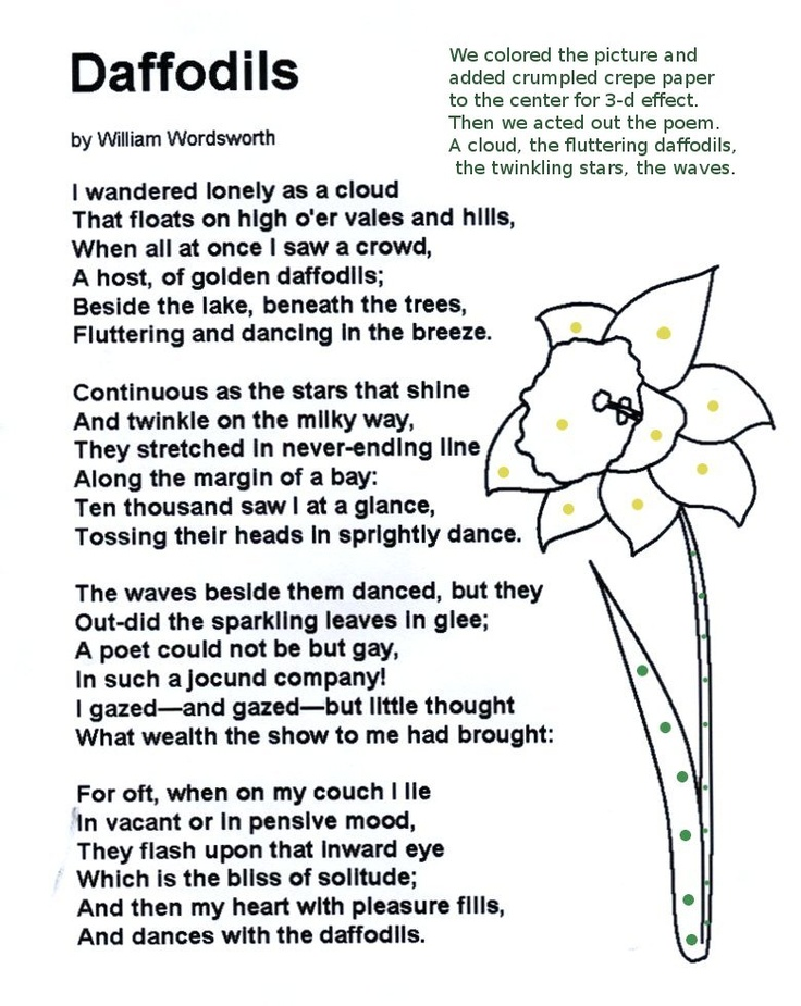 william wordsworth daffodils essays William wordsworth and romantic poetry in  related essays william wordsworth  comparisons between ' the daffodils' by william wordsworth and 'the new fast.