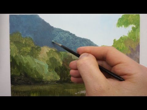 Techniques for Landscape Oil painting on Panel - YouTube