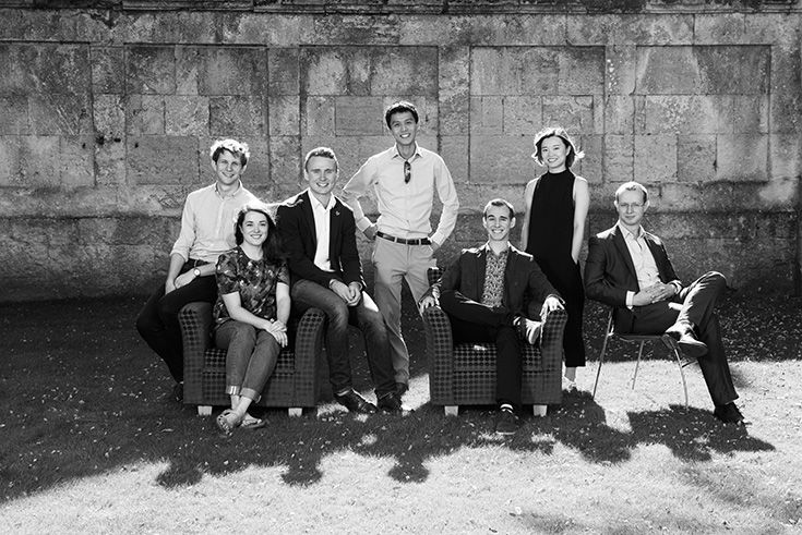 Left to Right: Joshua Folkard, Alice Baggaley, Oliver Watts, Martin Chan, Tomas Halgas, Mengya Du, Edward Hicks.