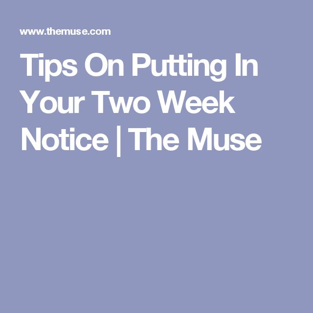 Best 25+ Two weeks notice ideas on Pinterest Two weeks notice - 2 week notice letters