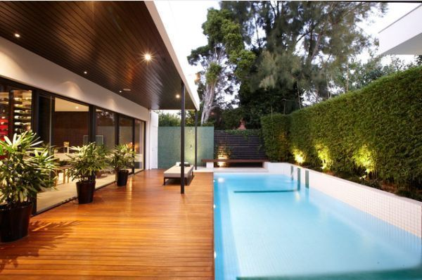 A contemporary pool with a very simple and serene look