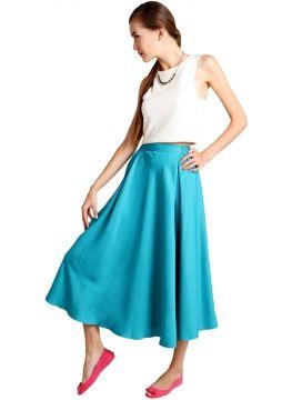 Love Maxi Skirt.. Vy By Silvy Eva Skirt Blue  Rp 380.000,-