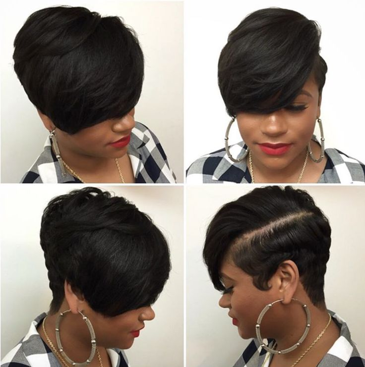 Short Hairstyles Black Hair 25 best short hairstyles for black women Find This Pin And More On Flat Wrap Hair Styles By Shonshon34
