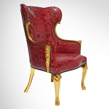 Hollywood design titans join forces for a unique and theatrical chair