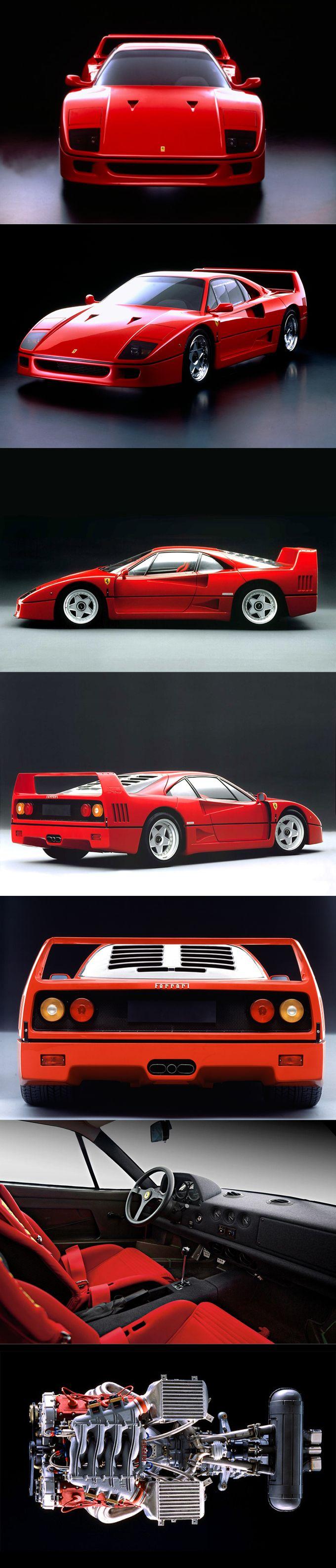 1987 Ferrari F40 / 1311pcs / 471hp / red / Italy