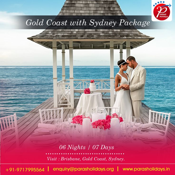 #ParasHolidays offers Best #HoneymoonPackages for #GoldCoast with #Sydney 2016 from Delhi India and get best discount on your packages. #SydneyHoneymoonPackages