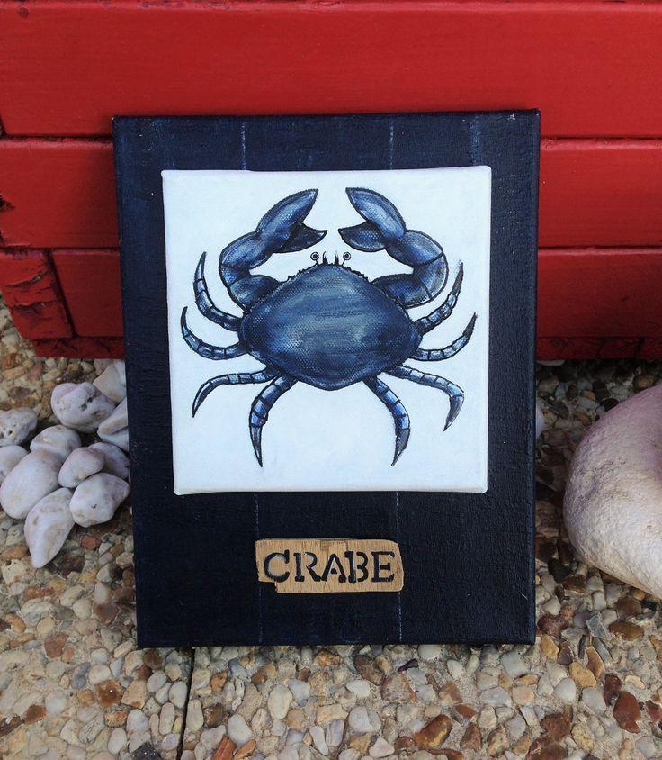 """Tableau d'un petit """"Crabe"""" bleu"""