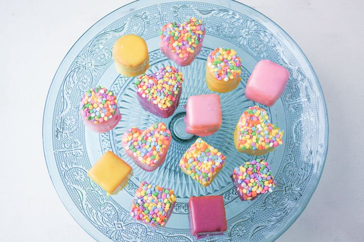 Learn how to make petit fours in the cutest way possible