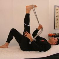 Runner's World- Hamstring Stretching: Just Do It  Includes a 10 minute hamstring stretch routine