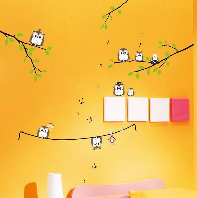 Awesome Wandsticker Wandtattoo Eulen auf dem Ast Kinderzimmer Sparen Online kaufen G nstig bestellen Im Onlineshop Sales