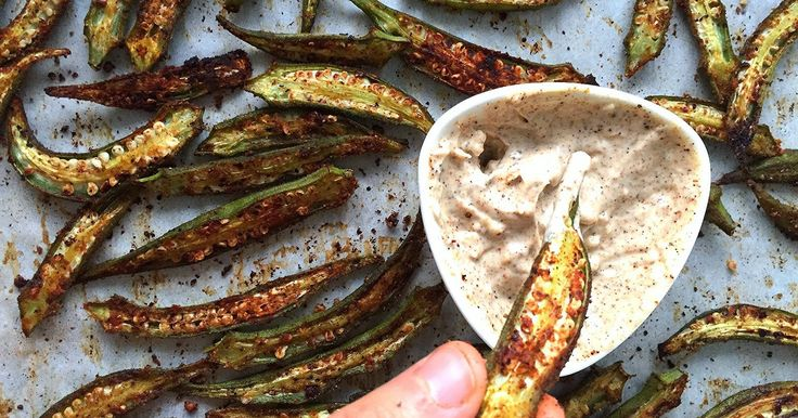 Okra!  Most popular deep fried! Delicious but, not ideal if you're like myself and don't generally indulge in fried food.  I do, howev