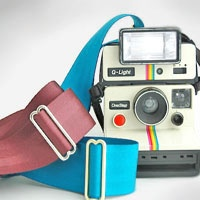 camera straps made from old seatbelts from american muscle cars - im mean seriously - everyone must have one of these - my baby got me one for xmas - in my mostest fav color -lime green