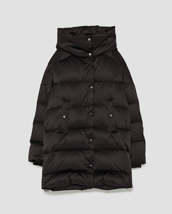 DOWN HIGH NECK PUFFER COAT from Zara