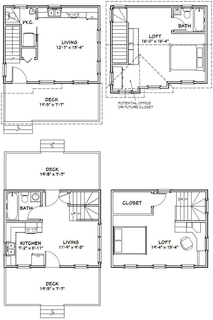 20x16 1 bedroom tiny homes pdf floor plans for 15x28 house plans