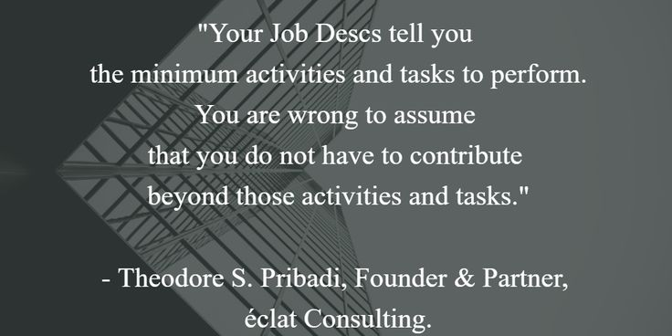A pinch of wisdom from Theodore S. Pribadi.