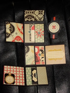 Mini Album made from one piece of paper based on one designed by Kathy Orta.