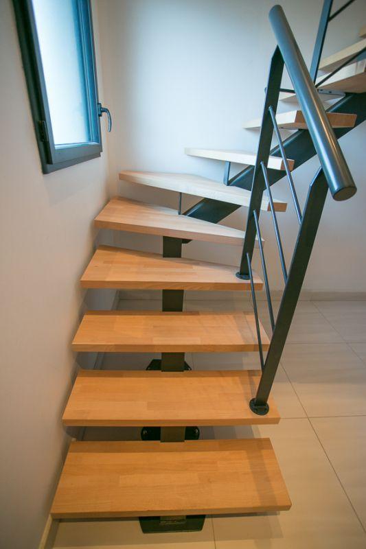 25 best ideas about escalier 1 4 tournant on pinterest main courante en bo - Limon d escalier metal ...