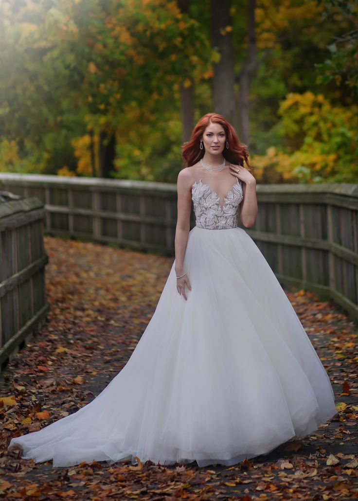 Marisa Bridals Plunging Neckline Ballgown From Solutions Bridal In Orlando Florida