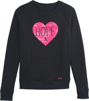Under Armour® Women's Hope Armour® Fleece Power in Pink® Crew