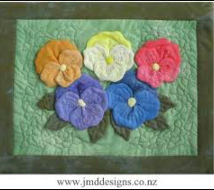 10 besten pansy quilt/block Bilder auf Pinterest | Stiefmütterchen ...