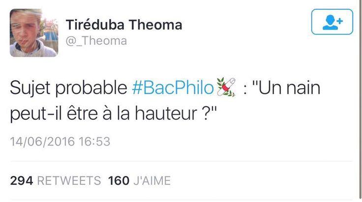 C'est jour de #Bac #Philo aujourd'hui on vous propose donc un sujet. Vous avez 3h !!!!    #Philosophie #BacPhilo #nain #humour