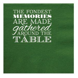 Fondest Memories Beverage Napkins #dining #table #friends