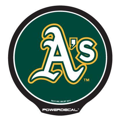 パワーデカール オークランド アスレチックス 光るLEDステッカー Powerdecal Oakland Athletics