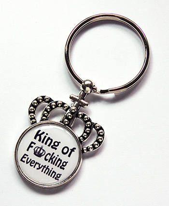 King of Everything keychain Crown Keyring stocking stuffer