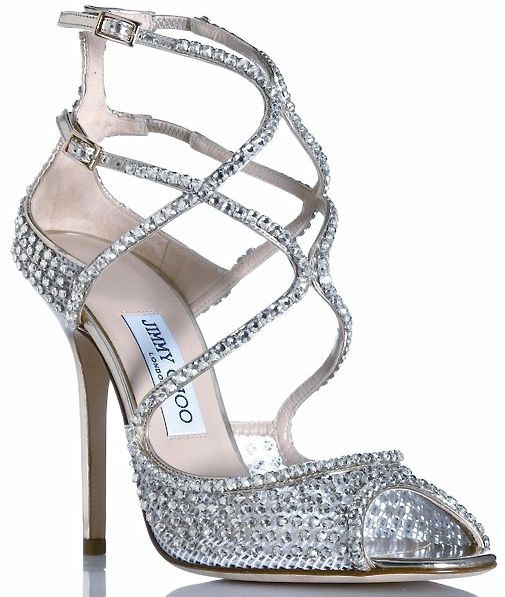 Jimmy Choo's Swarovski crystal sandals