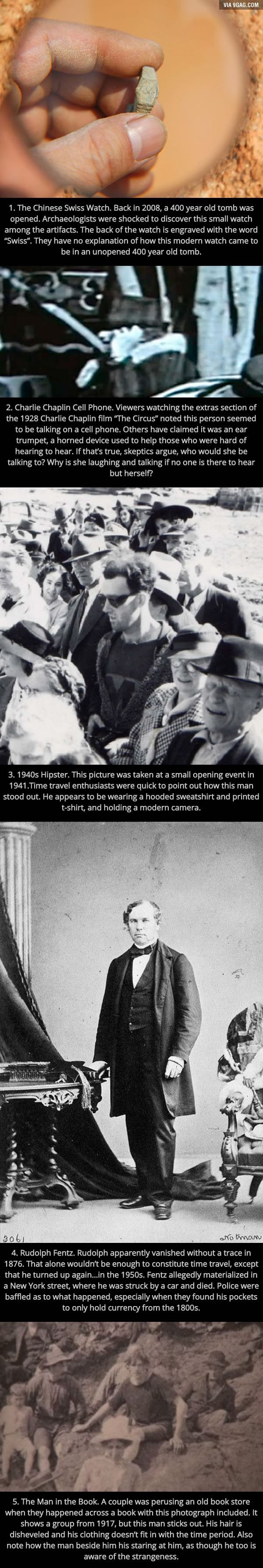 "5 Bizarre Pictures Which ""Prove"" Time Travel Exists - 9GAG"