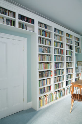 Built in book case - good for books.. and for storage without stuff being hidden and never used!