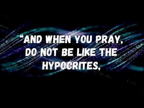 Matthew 6:5-8 - YouTube