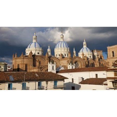 Low angle view of a cathedral Immaculate Conception Cathedral Cuenca Azuay Province Ecuador Canvas Art - Panoramic Images (24 x 14)