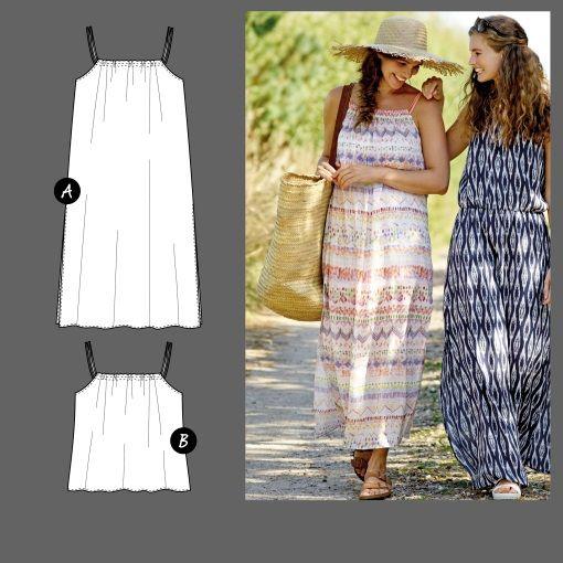 Lang kjole og topp