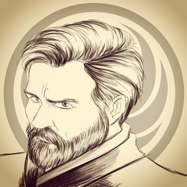 Obi Wan Kenobi #jedi #jedimaster #starwars #starscountdown12 #obiwankenobi #sketch #leader