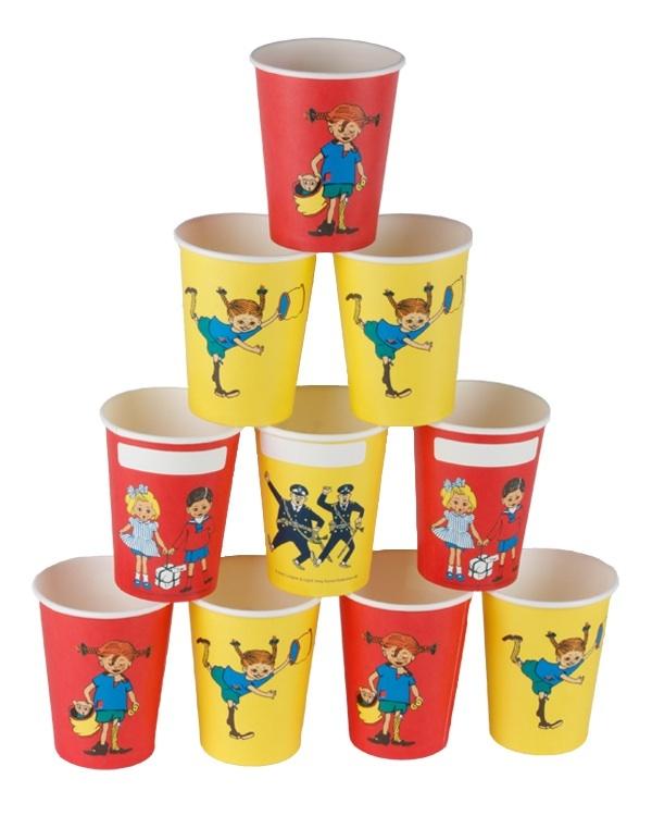 Pippi Longstocking paper cups!
