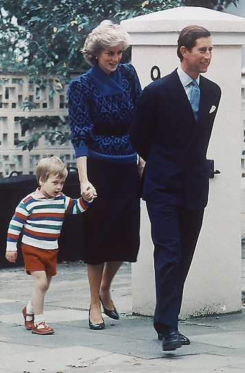 Charles and Diana take William to his first day at nursery