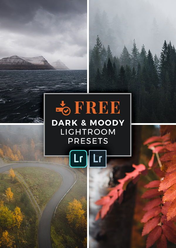 FREE Lightroom Presets for Dark and Moody Landscape