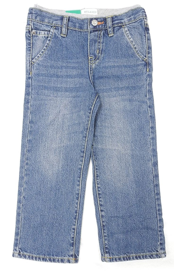 Lee Dungarees Boys Size 3T Relaxed Fit Straight Leg Jeans, Inkwell Blue