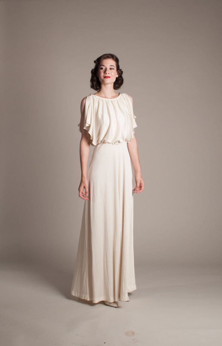 1930s Style Wedding Dress  Vintage 70s does 30s by concettascloset, $268.00