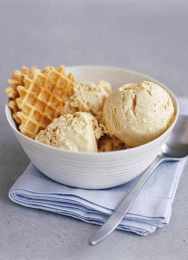 John Torode's caramel ice cream: 'This is one of my best ever ice cream recipes and it's so simple, in fact it only uses three ingredients. You don't need an ice-cream maker for it either, just freeze and it takes care of itself,' says John Torode. Use a stainless steel pan when you are making caramel – it's easier to keep an eye on the colour changing.