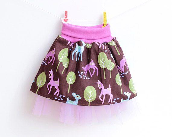 Puperita WOODLAND Skirt pattern, Girl sewing pattern, Tulle Skirt, 6m 9m 12m 18m 1 2 3 4 5 6 7 8 9 10 years