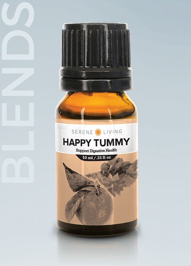 Happy Tummy Blend - Whether it is a tiny twinge or resounding rumble, tummy trouble can be awkward and stressful. Soothe your discomfort and help restore natural balance to your digestive system with Tummy Soother. #digestive #healthydigestion #essentialoils #essentialoil #aromatherapy #oilblend #essentialoilblend