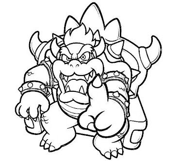 Printable Super Mario 3D Land Bowser Characters Coloring Pages Cakepins