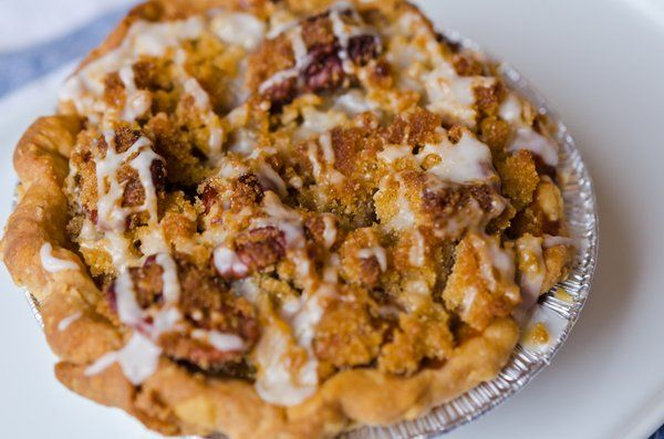 ... pumpkin pie. This pie has a brown butter pecan crumble and a bourbon