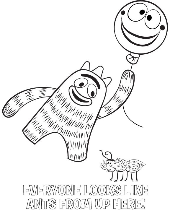 Nick Jr Coloring Pages Find This Pin And More On Yo Gabba