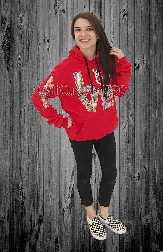 Red & Camo Love Country Hoodie