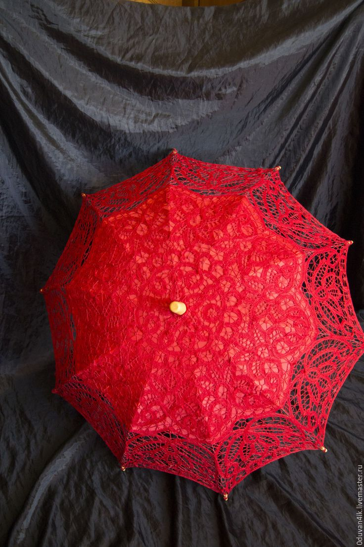 Купить Комплект зонт+веер(красный) - ярко-красный, зонт, веер, свадьба…